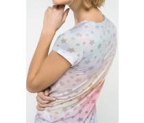 T-Shirt aus Devoré-Viskosejersey
