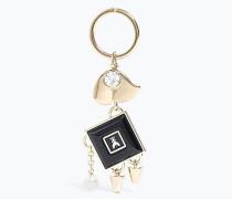 Emaillierter Schlüsselanhänger aus Messing