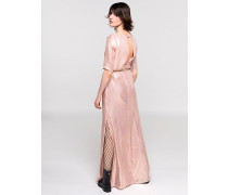 Langes Kleid aus Seide mit Lurex