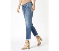 5-Pocket-Jeans mit tiefem Schritt aus Stretchdenim