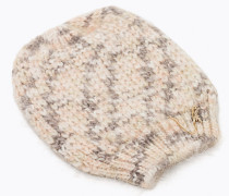 Hut aus Mohairgemisch mit Detail aus Kunstleder