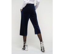 Knöchellange Hose aus Stretch-Samt