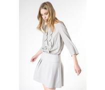 Kurzes Kleid aus Mischmaterial mit Tunika aus Seide und Rock  aus bielastischem Couture-Stoff