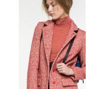 Mantel aus Bouclé-Wollstoff