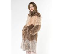 Mantel aus geschorenem Velours-Lammfell