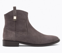 Flache Stiefel aus Sämischleder