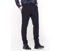 Bundfaltenhose aus Gabardine-/Wollgemisch mit Stretch