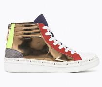 Sneakers aus Lackleder