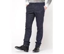 Schmal geschnittene Hose aus Flanell mit unregelmäßigem Muster