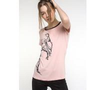 T-Shirt mit Muster und Strass