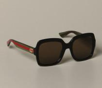 Acetat Brille mit GG-Monogramm