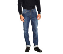 Schmale, leichte Stretch Used-Jeans