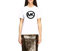 T-shirt mit Flock Monogramm