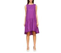 Basic Kleid mit Maxi Volant