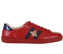Sneakers Niedrige Ace Sneaker Mit Webbands Und Bienen Lurex Stickere