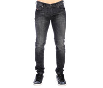 Sleenker Stretch-Röhrenjeans aus 5-Pocket-Denim