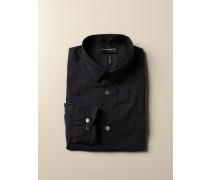 Hemd aus Stretch-Popeline