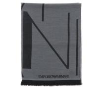 Schal aus gemischter Wolle mit Logo