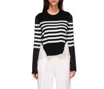 Gianduglia Sweatshirt mit Pailletten und Pois