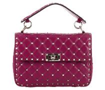 Handtasche Rockstud Spike Tasche Klein Mit Plattem Griff Und Gleitendem Schulterriemen