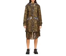 Cramond Mantel mit Animal Print aus Baumwolle
