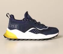 Sneakers aus Neopren-wildleder und Micro-mesh