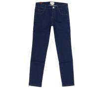 Jeans Slim Fit Mit Web-detail Und Bienen Lurex Stickerei