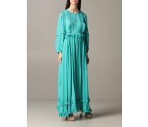 Langes Kleid mit Mikro Rüschen