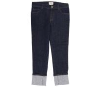 Jeans Mit Used Effekt Aufschlägen Und Web Bändern