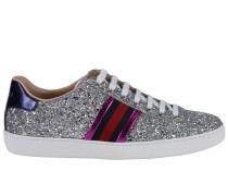 Sneakers Ace Mit Web Details Und Glitzer Oberfläche
