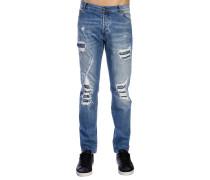 Slim Fit Jeans aus Jeansstoff