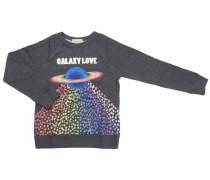 Pullover Sweatshirt Mit Einem Saturn Galaxy Love Großdruck