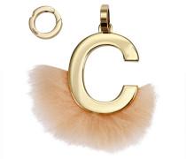 Modeschmuck Charm Abclick C Aus Nerzfell