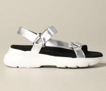Sandale aus Laminiertem Leder mit Aktiver Sohle
