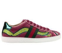 Sneakers Velvet New Ace Sneaker Mit Seitlichen Webbands Und Drachenstickerei