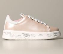 Belle Sneakers aus Perlmutt und Glattem Leder