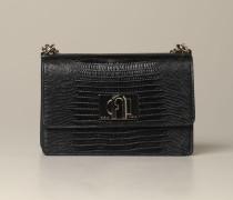 Mini Tasche aus Leder mit Krokodildruck