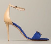 Sandale aus Wildleder und Leder