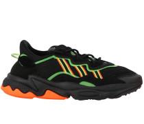 Ozweego Sneakers aus Wildleder und Fluo-gummi