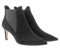 Boots & Booties - Suede Ankle Chelsea Booties Black