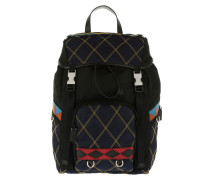 Tessuto Zainetto Backpack Baltic Blue Black Rucksack schwarz
