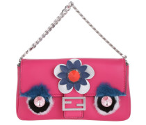 Tasche - Micro Baguette Bag Nappa Shiny Applications Fuxia - in pink