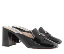 Schuhe Sabots Mules Patent Leather Black