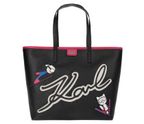 Ski Holiday Shopper Black Tote