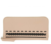 Zip-Around Wallet Pink/Black Portemonnaie
