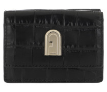 Portemonnaie 1928 Small Compact Wallet Nero