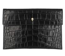 Clutch Envelope Leather Black