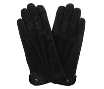 Handschuhe Glove Leather Black