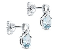 Ohrringe 9KTAquamarine Stud Earrings