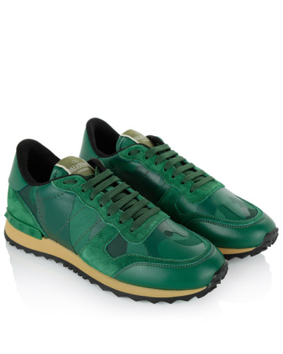 valentino damen valentino sneakers camouflage capsule sneaker smeraldo in gr n sneakers. Black Bedroom Furniture Sets. Home Design Ideas